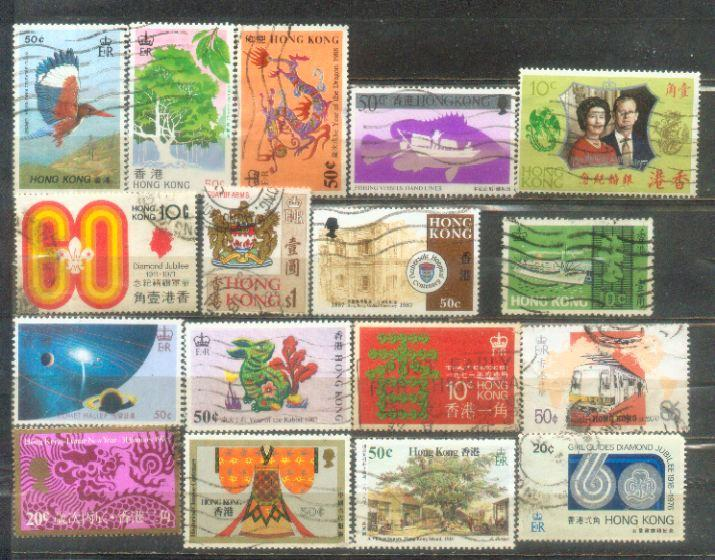 17 Hong Kong Commemorative Stamps.