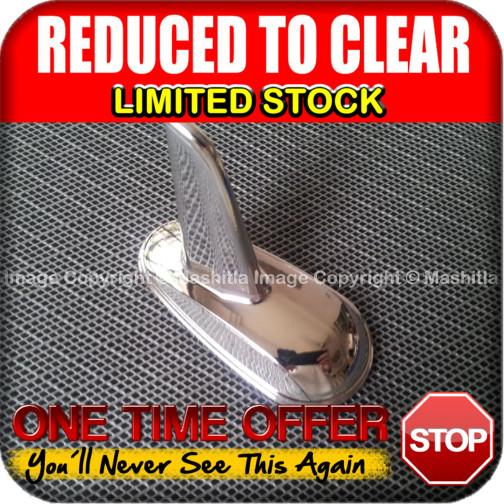 [1770CH] Chrome Car Dummy Static Antenna Aerial Shark Fin Euro Style M
