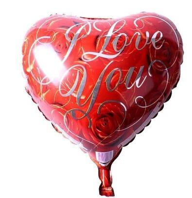 18 inch Heart Shape 'I Love You' Foil Balloon Love Shape Balloons