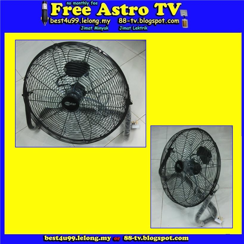 18 inch Industrial Floor FAN 5 Blade Table Desk Fan Kipas angin lantai