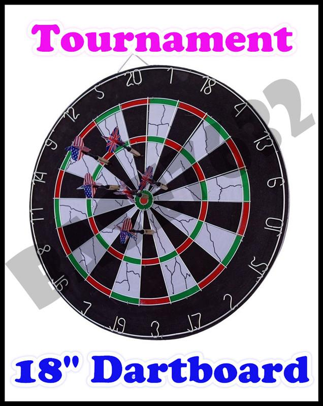 18 Inch Professional Tournament Dartboard Dart Board Free Darts 1381 1