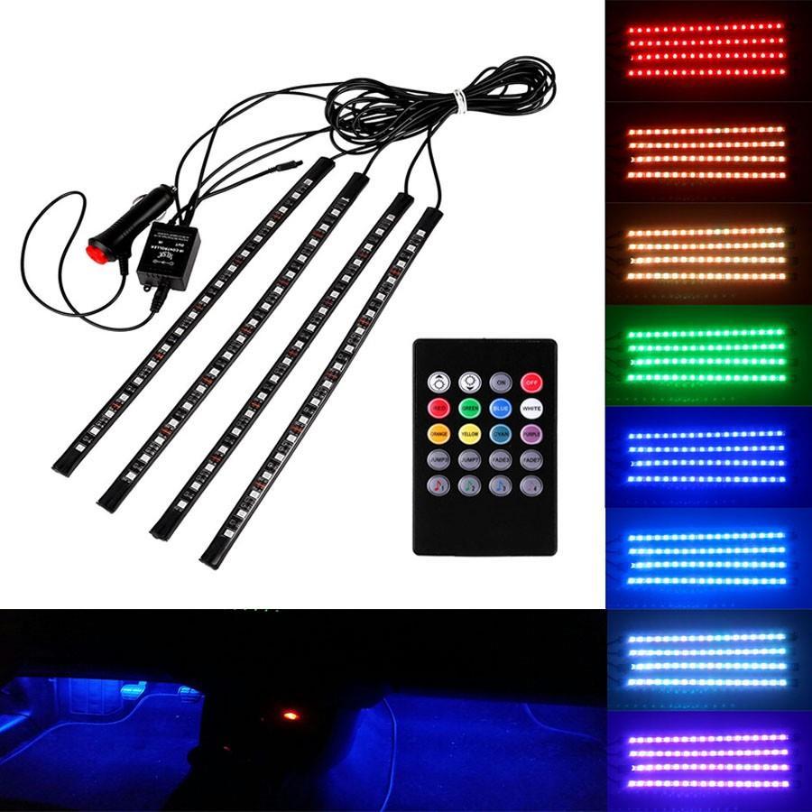 18 led car rgb led strip light 4 in end 4242020 420 pm 18 led car rgb led strip light 4 in 1 music control atmosphere lamp aloadofball Gallery