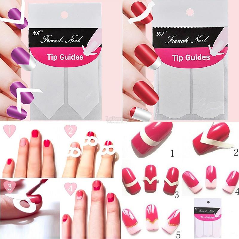 18 Styles-White French Manicure DIY Guide Tips Stickers-Nail Art Decal