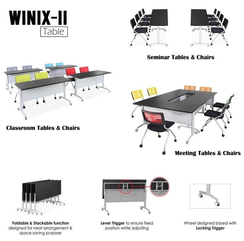 1800W X 600D (mm) WINIX-II Portable Foldable Table | Roller Folding Ta