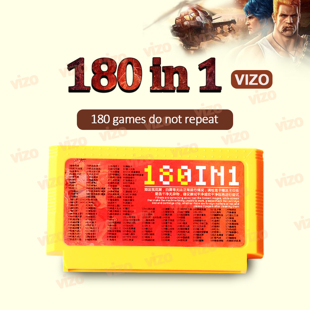 180in1 Retro Video Games Card Catridge Tape
