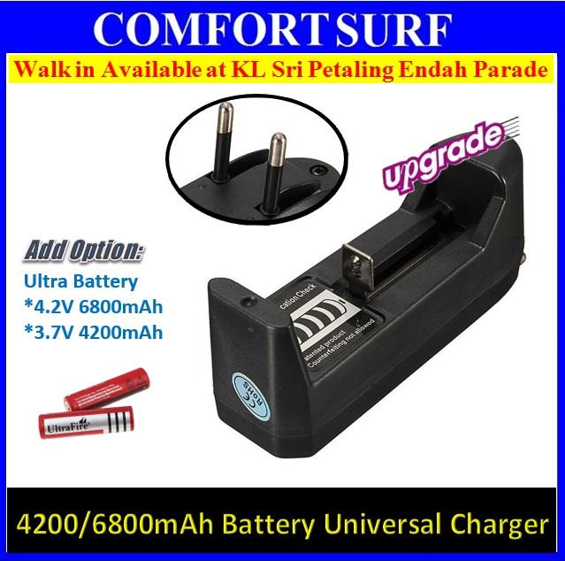 18650 Li-ION Universal Battery Charger Single VAPE Rechargeable 3.7V