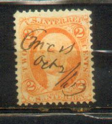 1867 USA 2c Old Revenue Stamps
