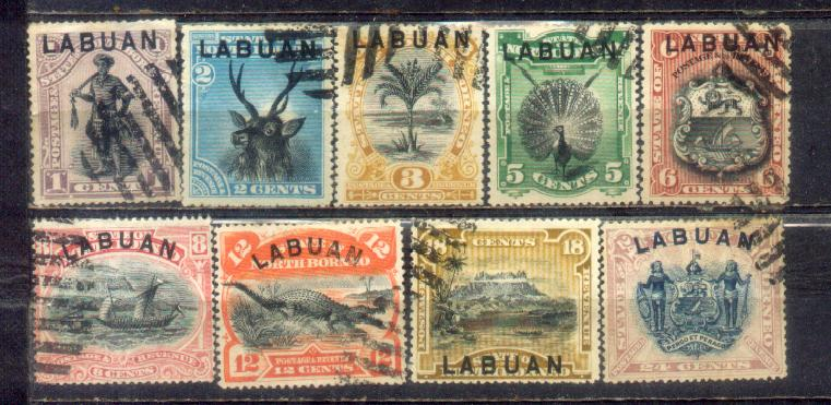1894-96	Labuan Old Stamps 1c to 24c CV Rm 800