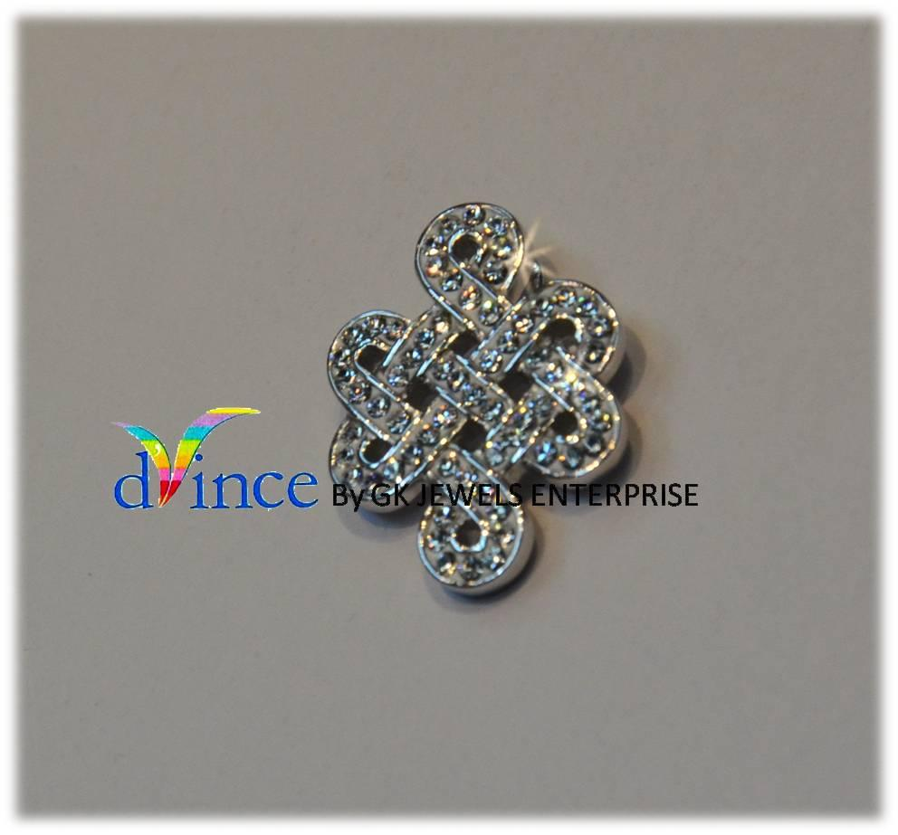 18K White Gold On 925 Silver Swarovski Element *72*