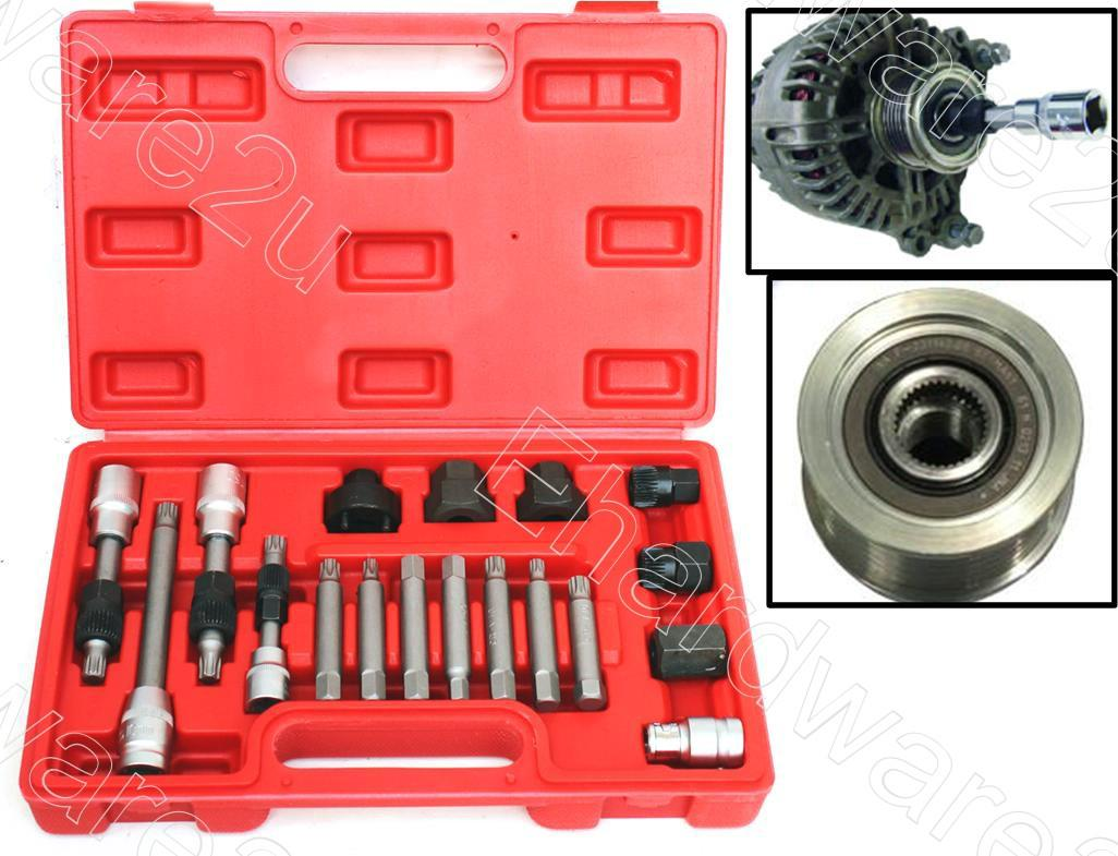 18Pcs Alternator Pulley Service Repair Tools Kit (4738-18)