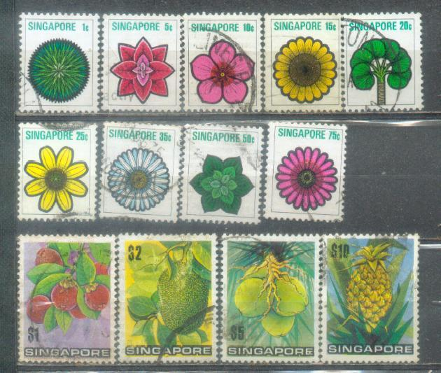 1973 Singapore Definitive Complete Set