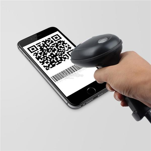 1D 2D QR CODE Barcode Bar Code Scanner POS System come with stand