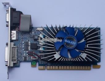 1GB Galaxy GeForce GT430 LP (Nvidia GT430) PCI-E graphics card.