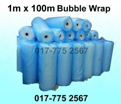 1m x 100m Air Bubble Wrap Packing Roll Single Layer Plastic