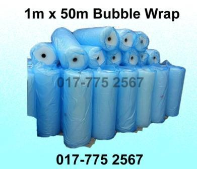 1m x 50m Air Bubble Wrap Packing Roll Single Layer Plastic