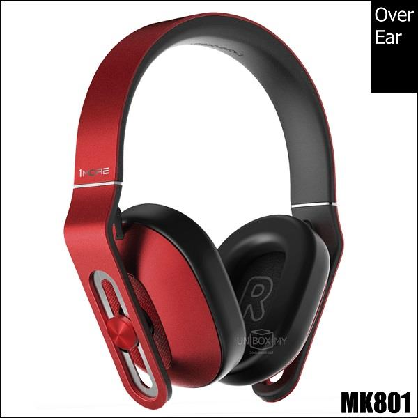 1MORE MK801 Over-Ear Headphones Red