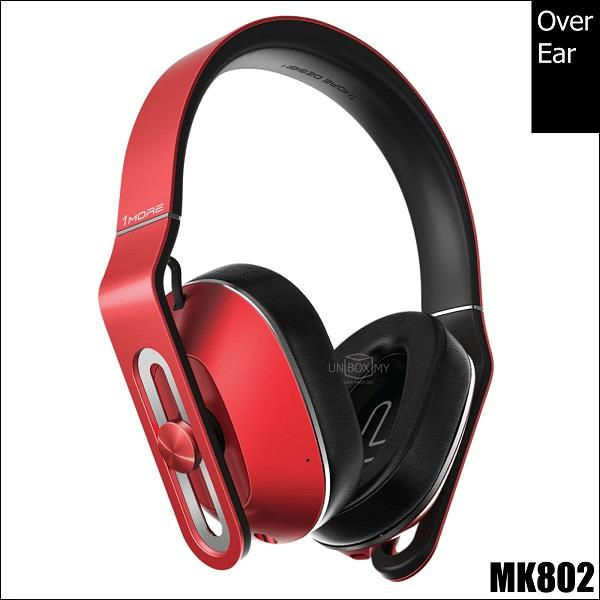 1MORE MK802 Bluetooth Over-Ear Headphones Red