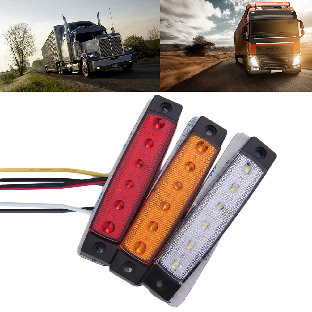 1pc 6 LED Car Truck Trailer Side Marker Indicators Light Lamp 12V