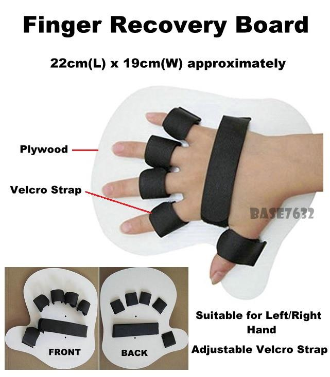 1pc  ADULT Finger Hand Stroke Rehabilitation Recovery Correction Board