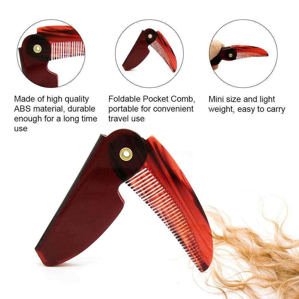 1pc Foldable Hair Comb Portable Travel Hair Brush Hair Comb Plastic Folding  De