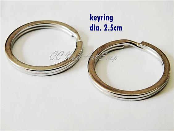 1pc Keyring key ring good quality 25mm diameter stainless steel