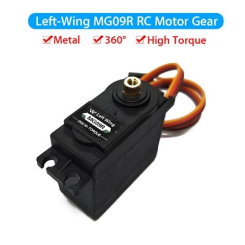 1PCS MG09R 360 DEGREE HIGH TORQUE METAL GEAR RC SERVO MOTOR HELICOPTER