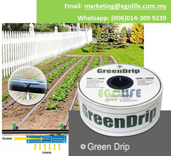 1roll Farm Garden Drip Tape Irrigation Green Drip 16mm Lay Flat Tube