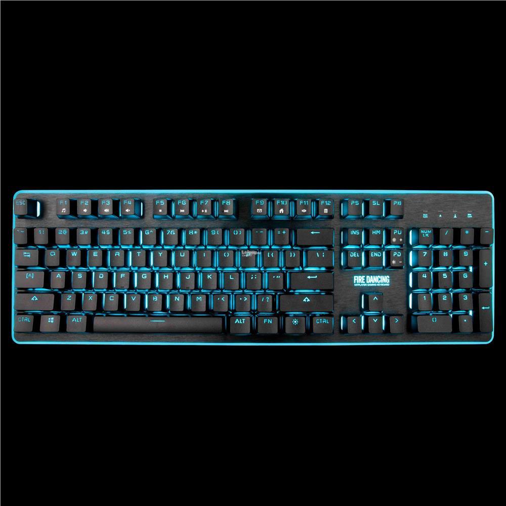 1st Player Fire Dancing GK3 Shine Gaming Keyboard