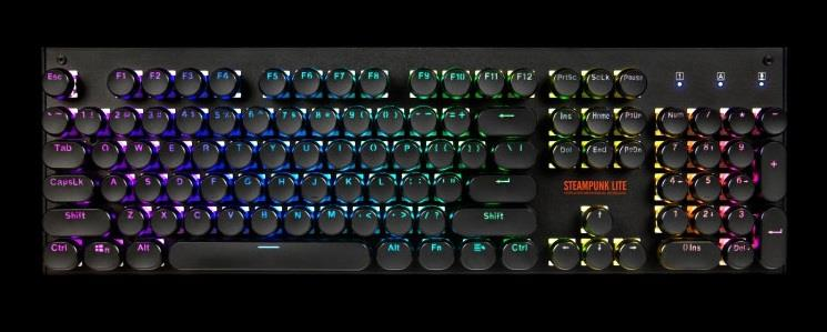 1stPlayer MK5 RGB Black Steampunk Mechanical Gaming Keyboard