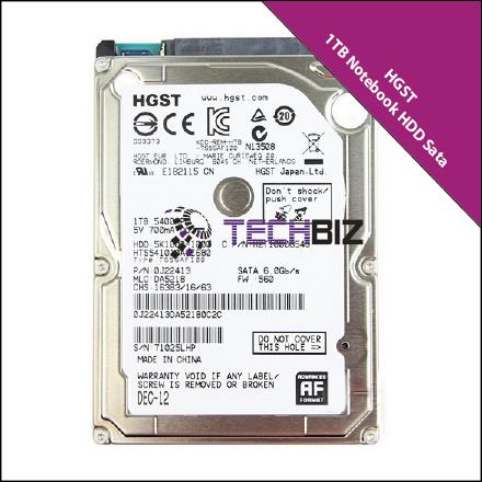 1TB 5400RPM Sata Notebook Hard Disk Drive