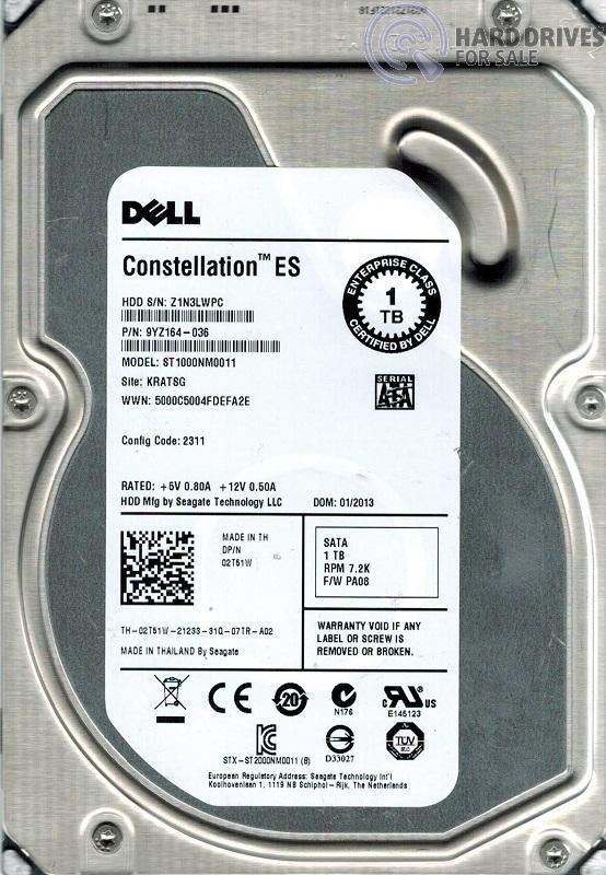 1TB 6Gb/s 7.2k  3.5'  Hard Drive Dell 2T51W