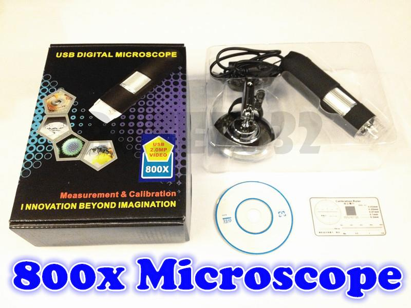 1X - 800X  USB Digital Microscope  Endoscope Magnifier