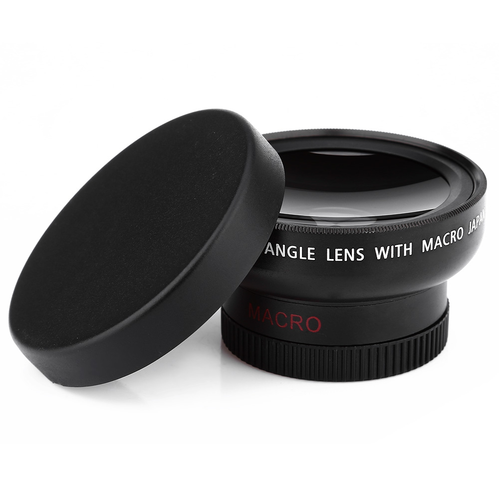 2-IN-1 37MM 0.45X WIDE ANGLE MACRO CAMERA LENS WITH TWO CAP
