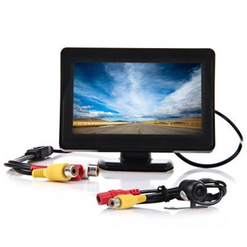 2 IN 1 43 INCH TFT LCD CAR REAR VIEW MONITOR PARKING CMOS CCD AUTO CA