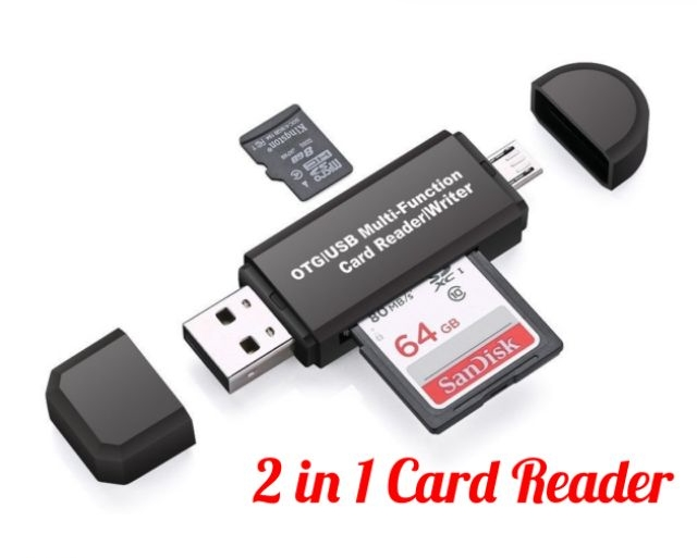 2 in 1 Card Reader Universal USB 2.0 OTG Micro Sd TF/SD Card Reader Phone Flas