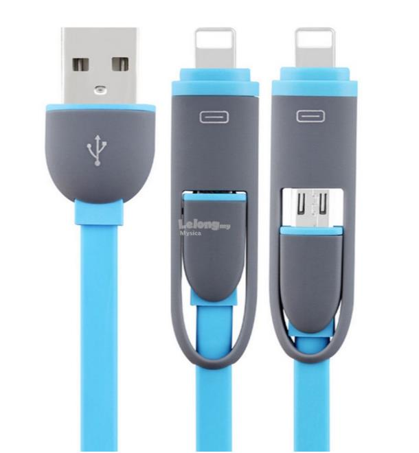 2 in 1 charger cable USB Data Line charging cord
