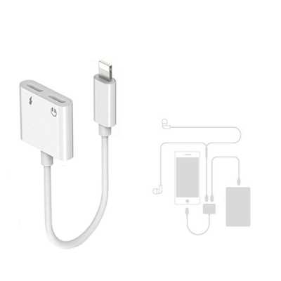 separation shoes adbb2 50434 2 in 1 Dual Headphone Jack Adapter with Charge Splitter for iPhone X / 8/ 8  Pl