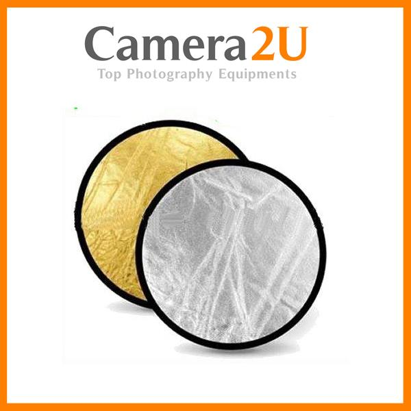 New 2 in 1 Foldable Flash light Reflector 110cm for Portraits 2in1