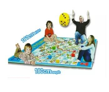 2-in-1 Giant Snake and Ladder Chess (Family Play Mat) 180cm x 160cm