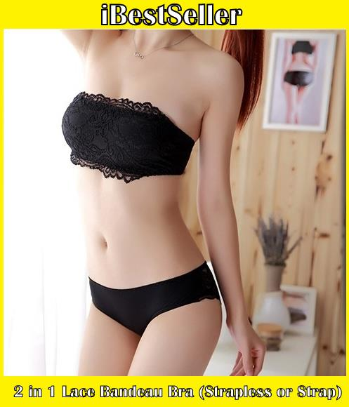 c61340a75234 2 in 1 Lace Bandeau Bra (Strapless (end 7 18 2020 10 15 PM)