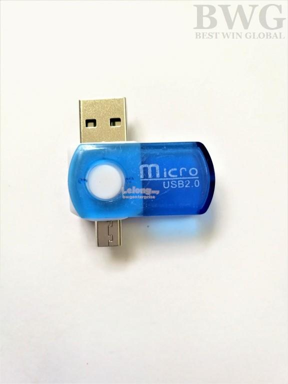 2 in 1 Micro USB OTG Adapter SD Micro SD TF Card Reader Android & PC