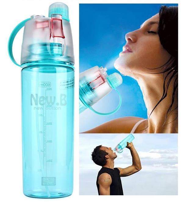 二合一喷雾水瓶不倒翁冷却健身户外运动