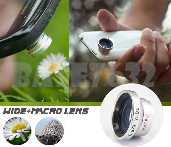 2 in 1 Mobile Camera Phone Wide Angle+ Macro Lens Iphone 1219.1