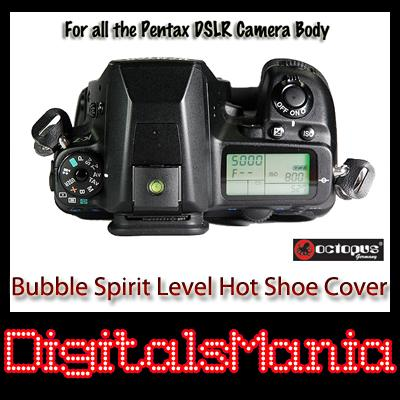 2 in 1 Octopus Bubble Spirit Level Hot Shoe Cover - Pentax Kx Kr K-5 K