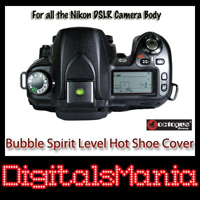 2 in 1 Octopus Bubble Spirit Level Hot Shoe - Nikon D3000 D3100 D7000