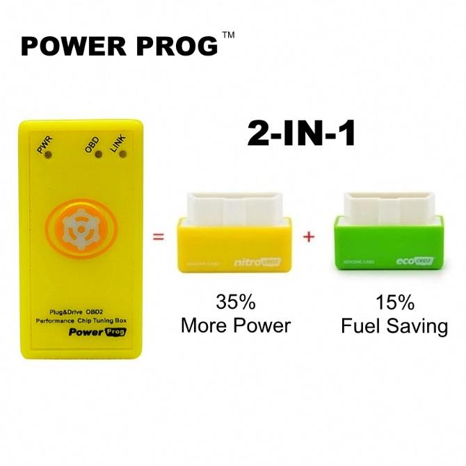 2-IN-1 POWER PROG ECU Mapping Tuning Petrol Car Better Than Nitro OBD2