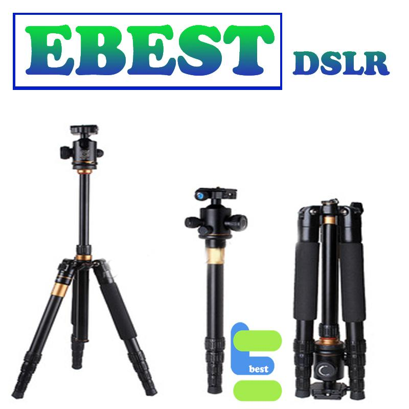 2 in 1 QZSD 666 Portable Travel Camera Tripod and monopod