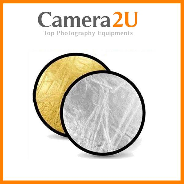 2 in 1 Reflector for Studio Photography Foldable 60cm 80cm 110cm