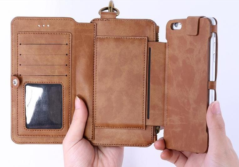 best cheap b0422 5358f 2 in 1 Remax iPhone 6 6S 6 Plus Case Cover Card Slot Wallet Clips Bag