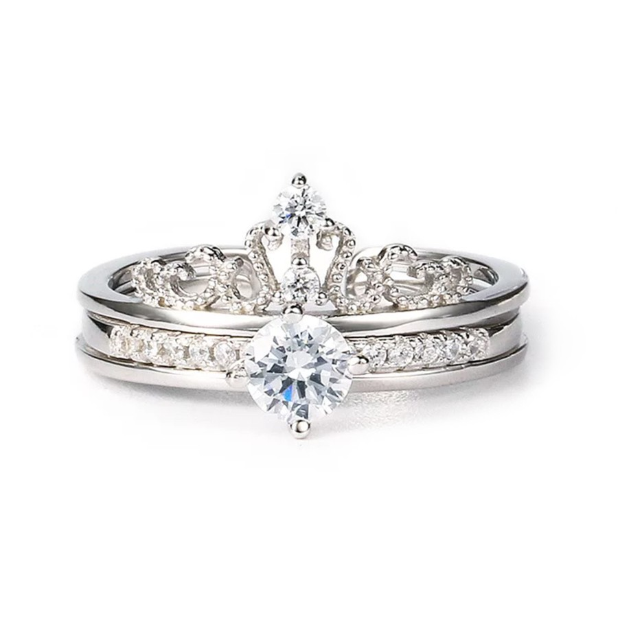 2 in 1 Rings Set (Crown Ring + Diamon (end 3/1/2020 1:07 PM)